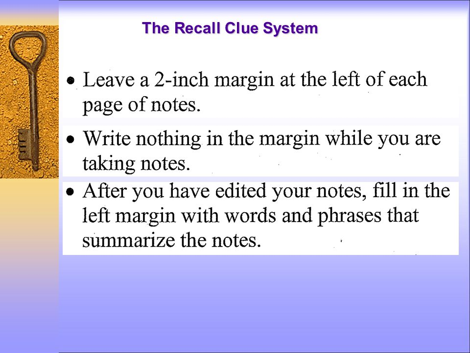 The Recall Clue System