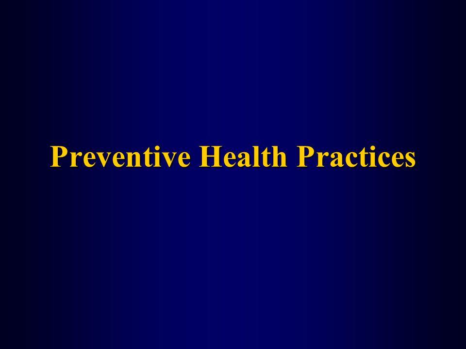 Preventive Health Practices