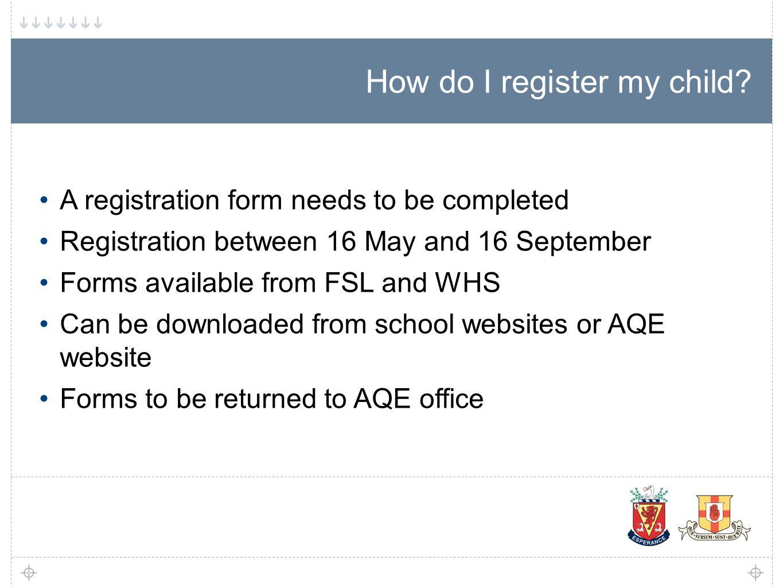 How do I register my child.