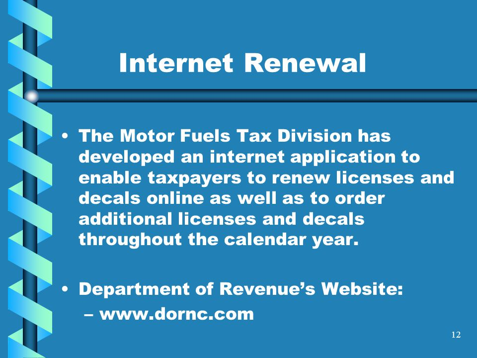 11 Account Status Your account status will affect the renewal of your license and decals.