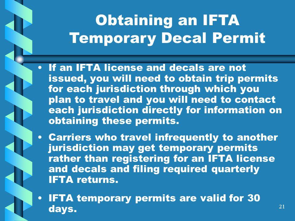 20 Temporary Permits