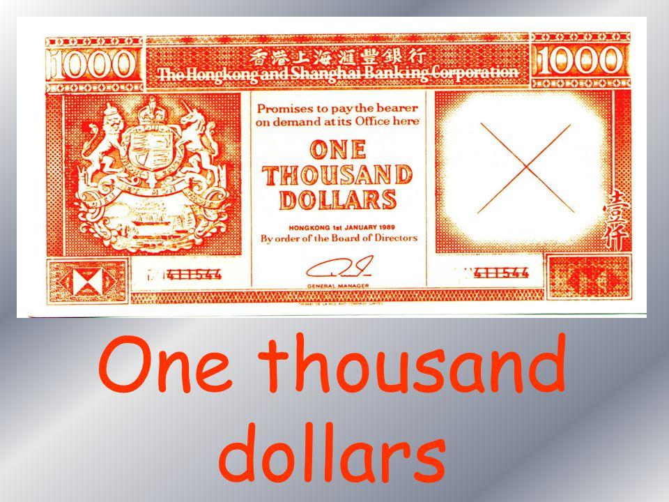 Five hundred dollars