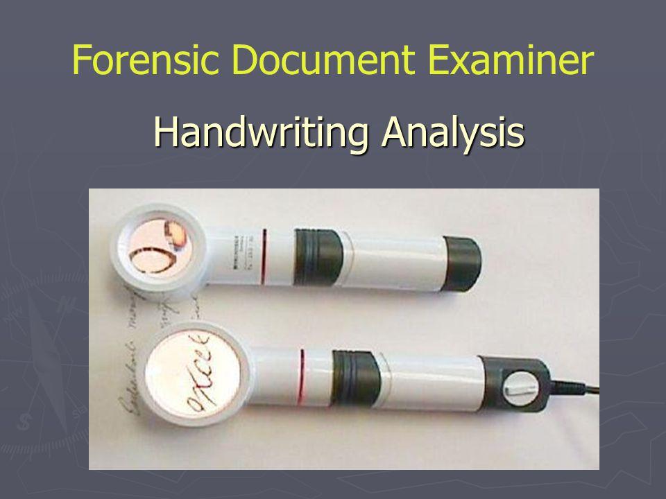 Handwriting Analysis Forensic Document Examiner