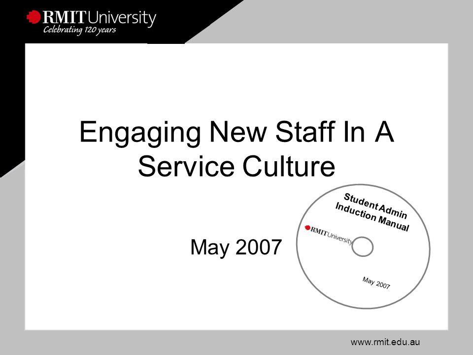 www.rmit.edu.au RMIT UniversitySlide 2 Why an Induction Manual.