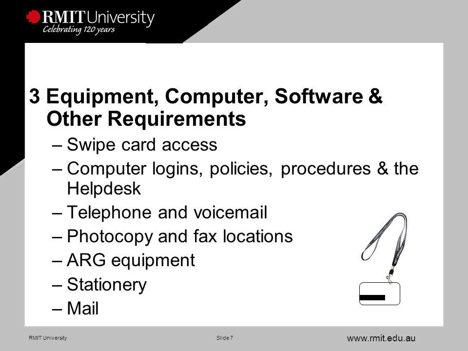 www.rmit.edu.au RMIT UniversitySlide 18 Where to.