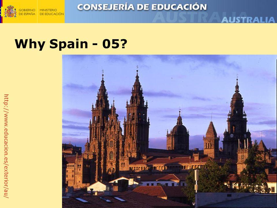 http://www.educacion.es/exterior/au/ Why Spain - 05