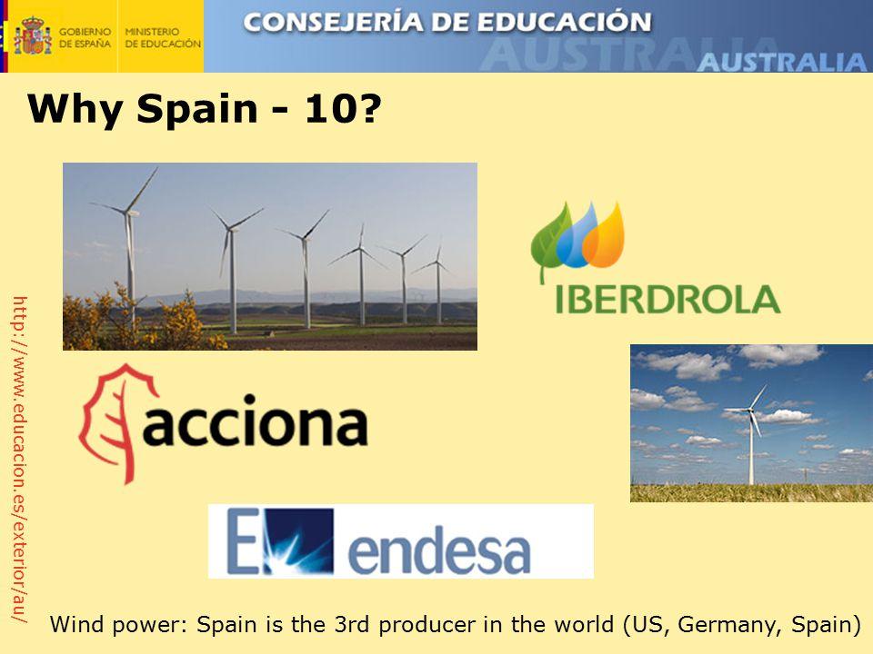 http://www.educacion.es/exterior/au/ Why Spain - 10.