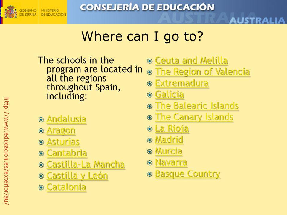 http://www.educacion.es/exterior/au/ Where can I go to