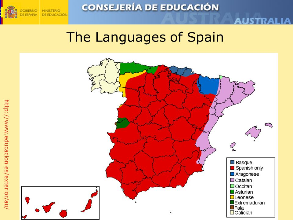 http://www.educacion.es/exterior/au/ The Languages of Spain