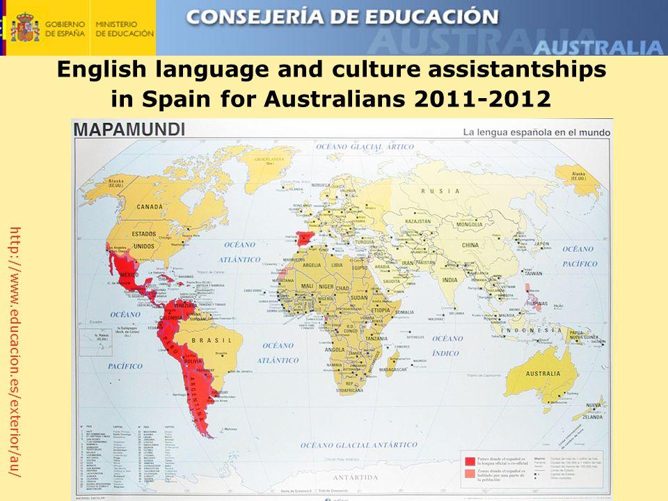 http://www.educacion.es/exterior/au/ English language and culture assistantships in Spain for Australians 2011-2012
