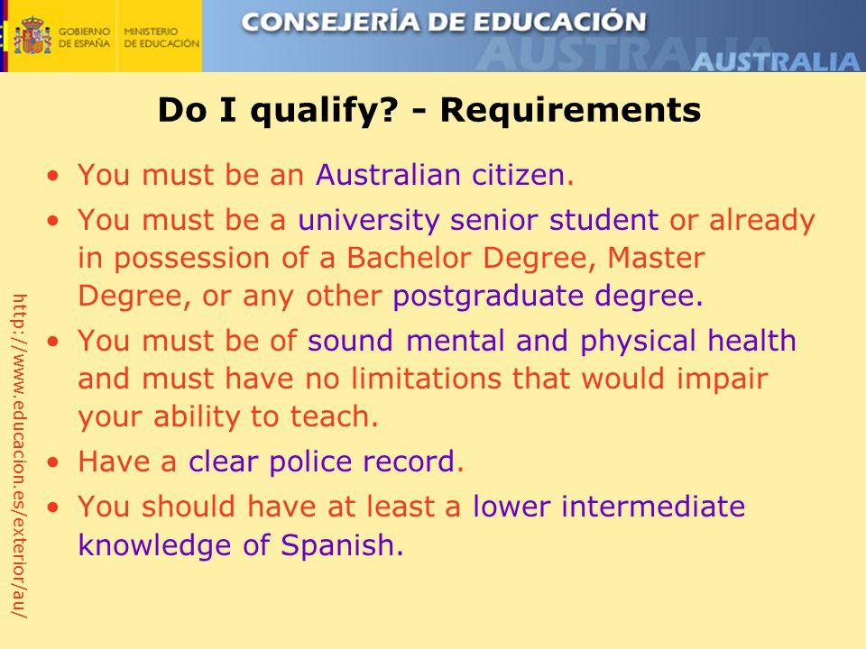 http://www.educacion.es/exterior/au/ Do I qualify.