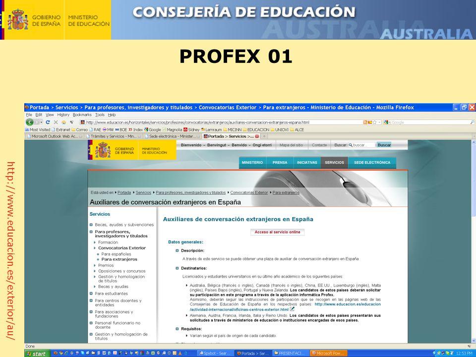 http://www.educacion.es/exterior/au/ PROFEX 01