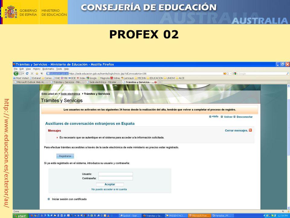 http://www.educacion.es/exterior/au/ PROFEX 02