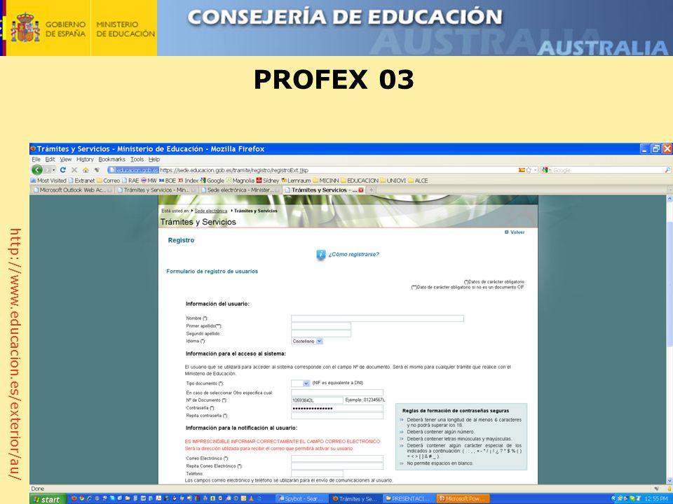 http://www.educacion.es/exterior/au/ PROFEX 03