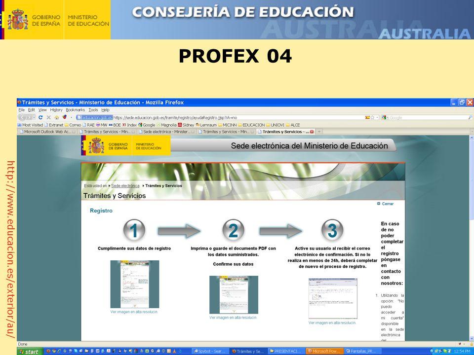 http://www.educacion.es/exterior/au/ PROFEX 04