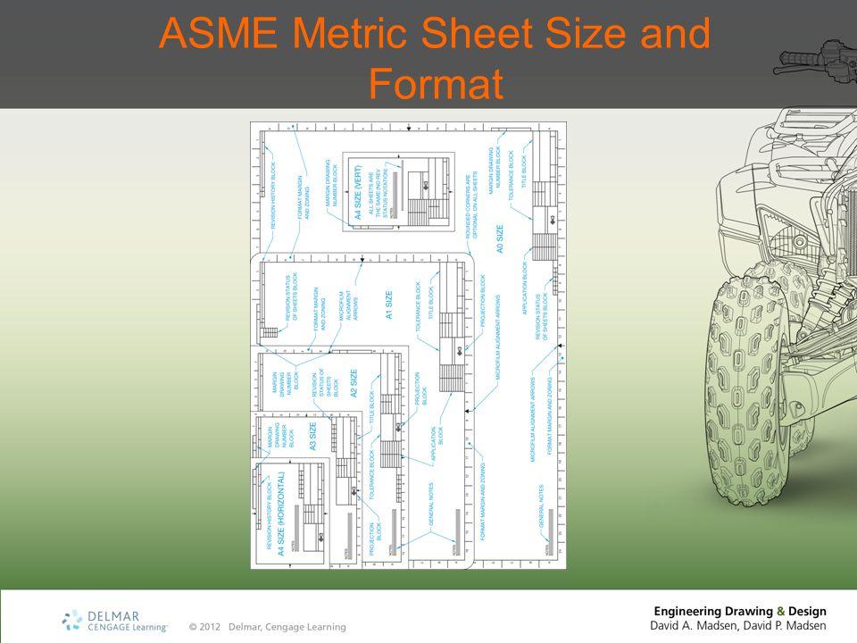 ASME Metric Sheet Size and Format