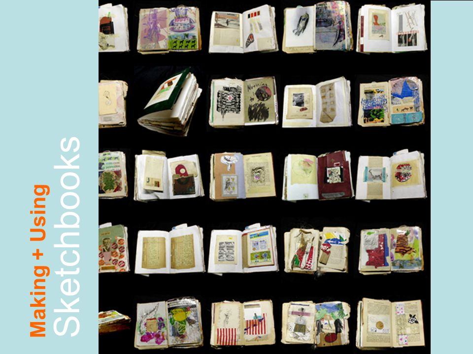 What a sketchbook is for Most artists keep sketchbooks in which they experiment with ideas.