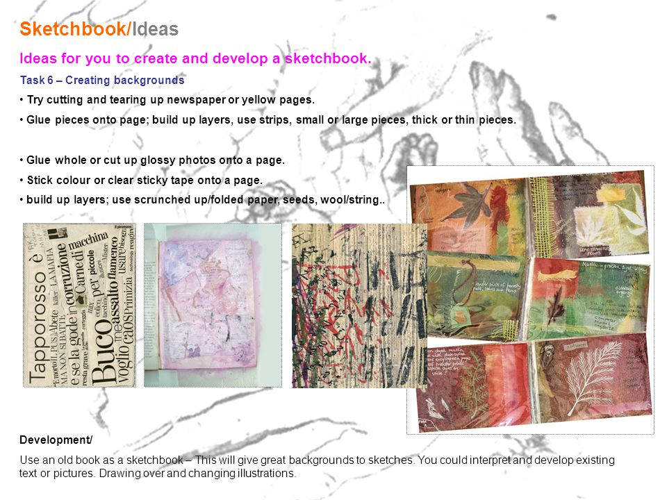 A sketchbook is a great tool for an artist.