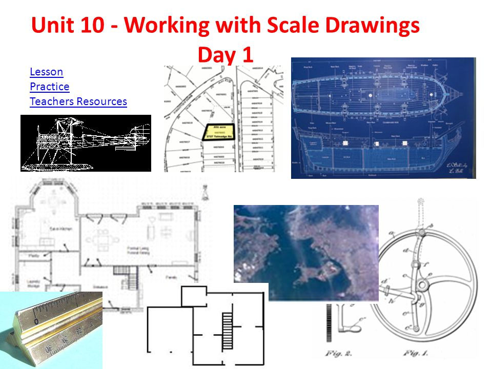 Unit 10 - Working with Scale Drawings Day 1 Lesson Practice Teachers Resources