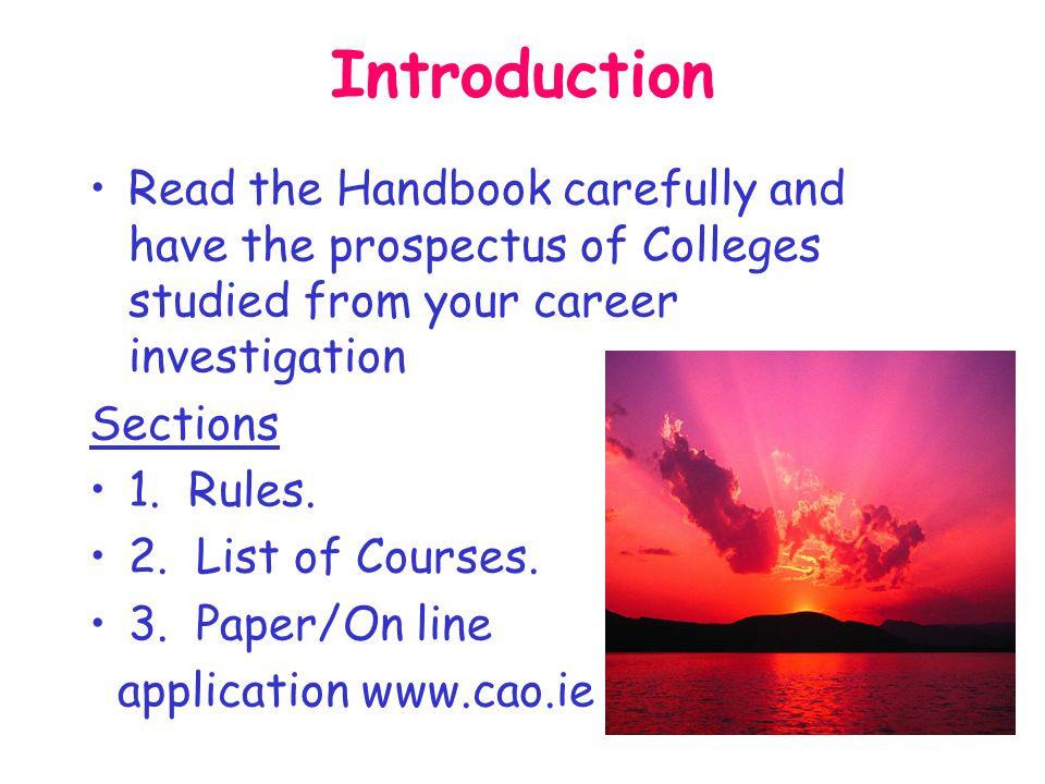 C.A.O. Application Procedures 2010