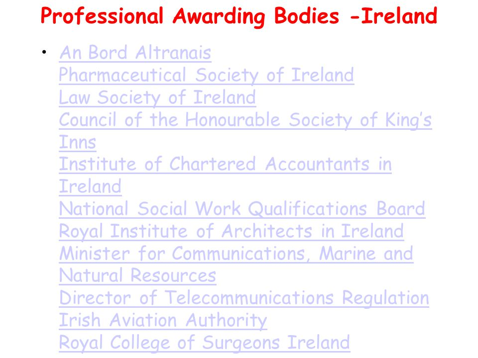 Irish Awarding Bodies The State Examinations Commission (SEC) SEC makes awards for Junior Certificate and Leaving Certificate.The State Examinations Commission (SEC) The Irish universities and the Dublin Institute of Technology make awards for programmes provided under their own aegis, and for some programmes provided in other institutions.
