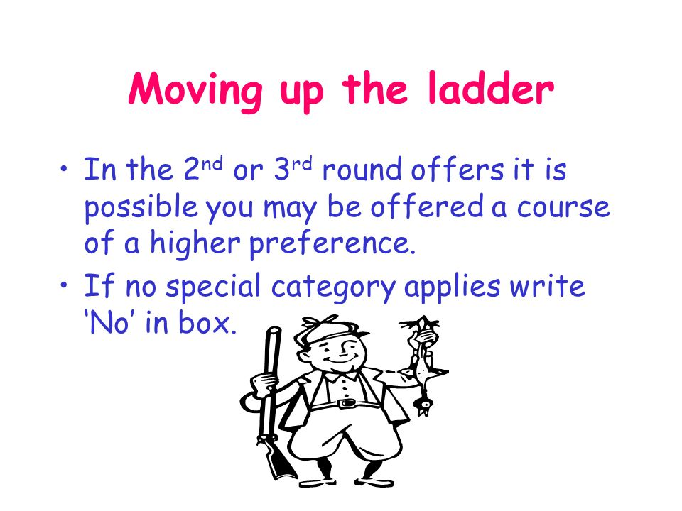 Ladder Do not include any course you have not researched thoroughly.