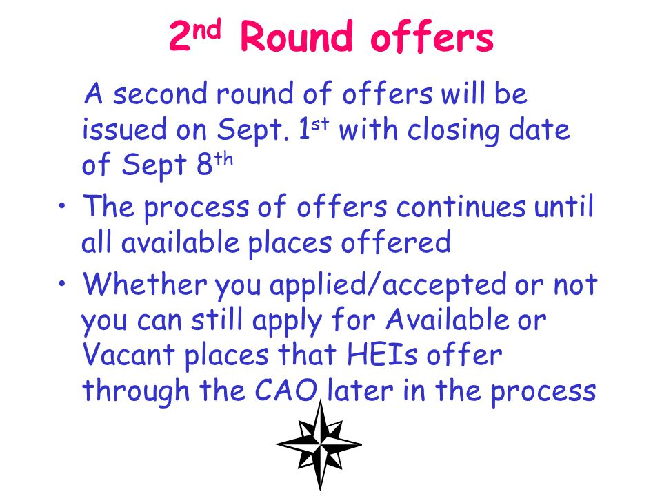 Acceptance This offer will expire unless accepted by offer closing date- Usually 7 Days If you do not receive notification within 3 days of the 'Reply Date' then contact the CAO immediately.
