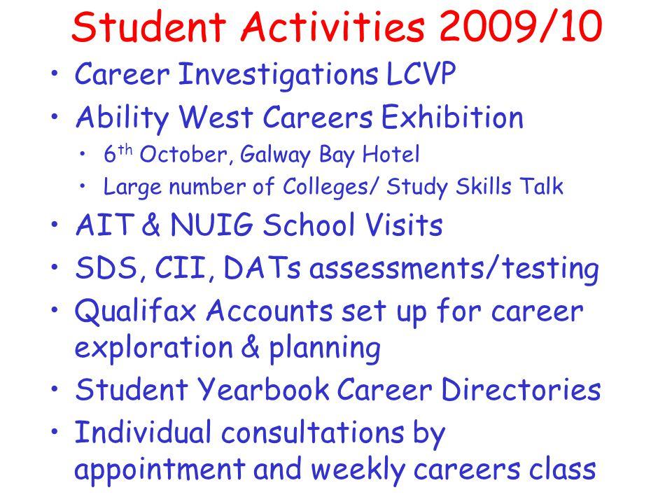 Useful Websites www.cao.ie & www.ucas.co.uk - Appplication Services www.qualifax.ie –Comprehensive info.