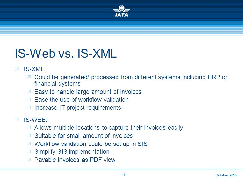 October 2010 11 IS-Web vs.