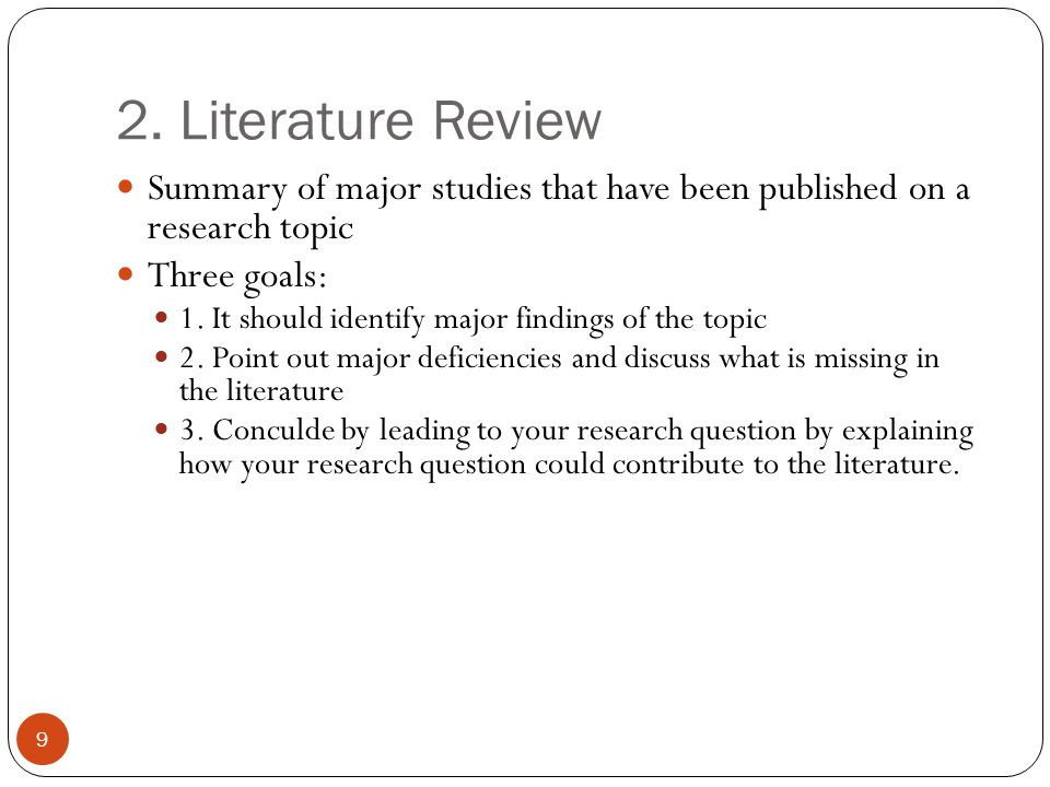 research paper literature review format