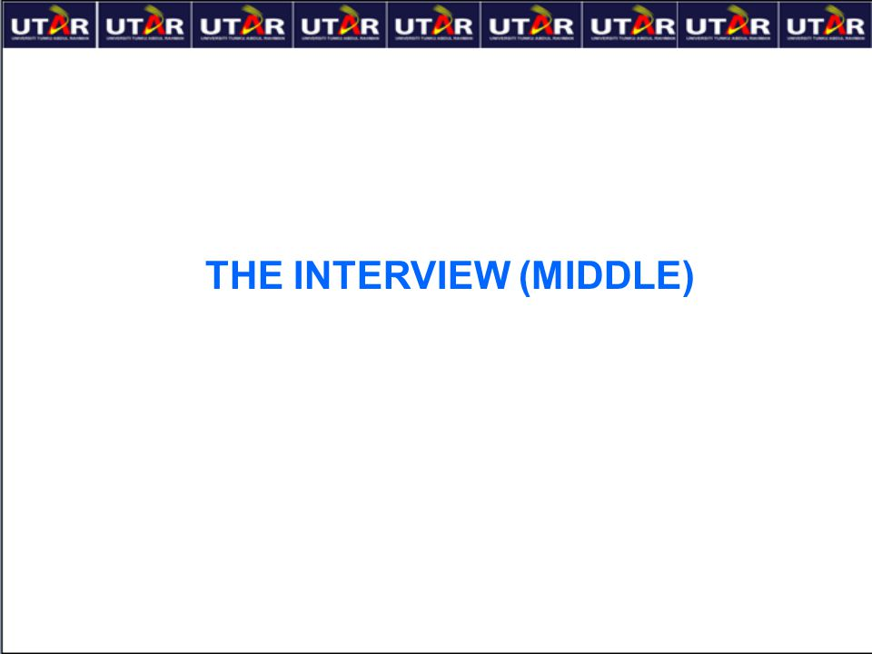 THE INTERVIEW (MIDDLE)