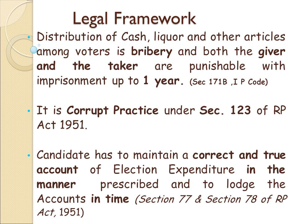 Contesting Candidates may be disqualified Section 10 A of R.P act, 1951 for 3 years on following grounds: Not lodging Accounts in time.