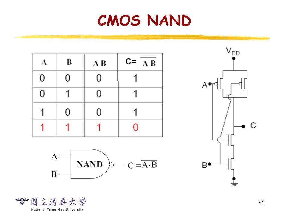 31 CMOS NAND