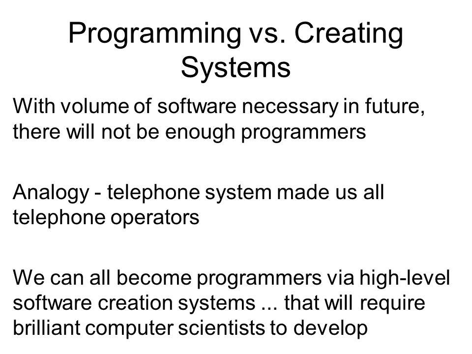Programming vs.