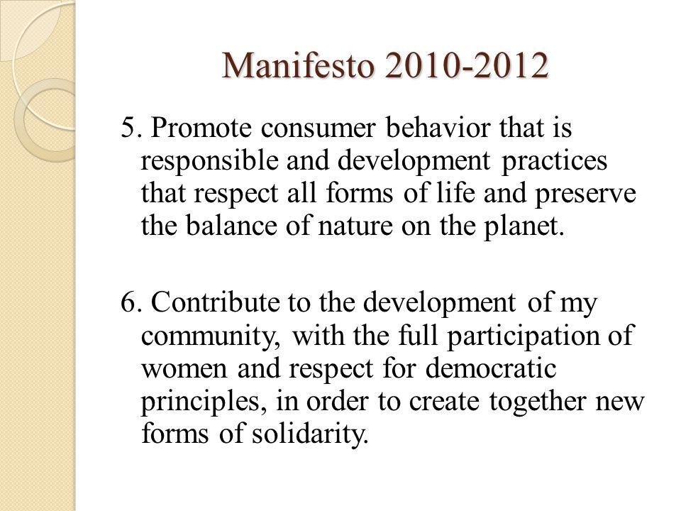 Manifesto 2010-2012 5.