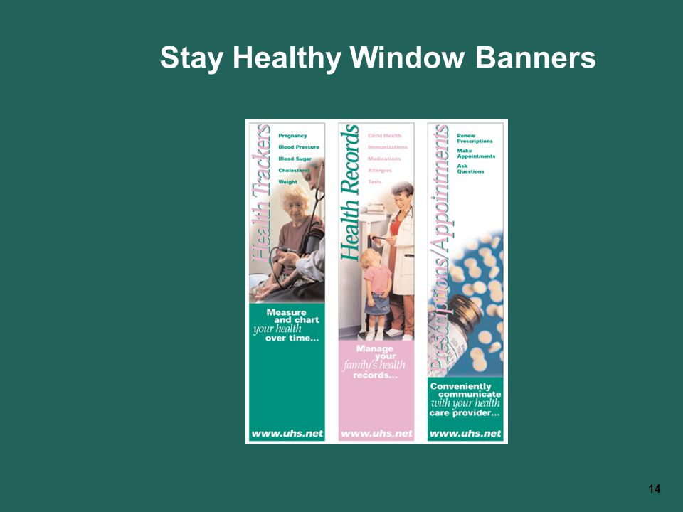 14 Stay Healthy Window Banners