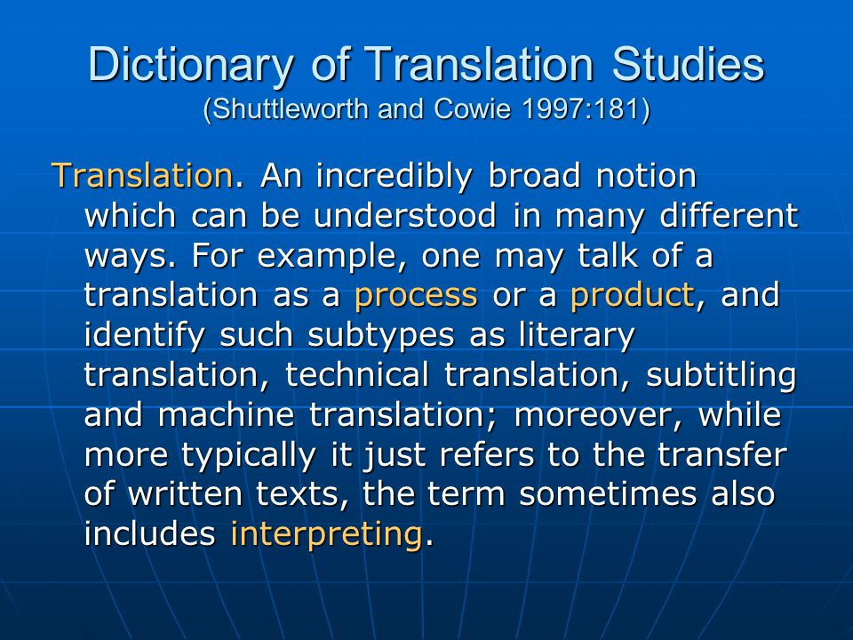What is Translation.