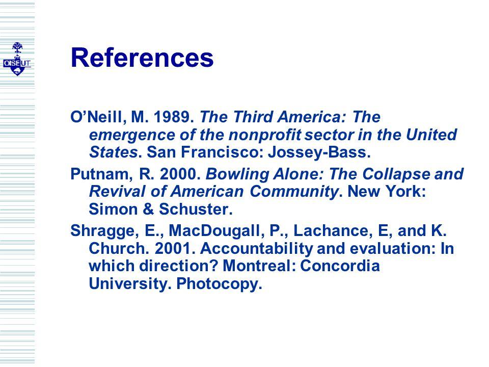 References O'Neill, M. 1989.