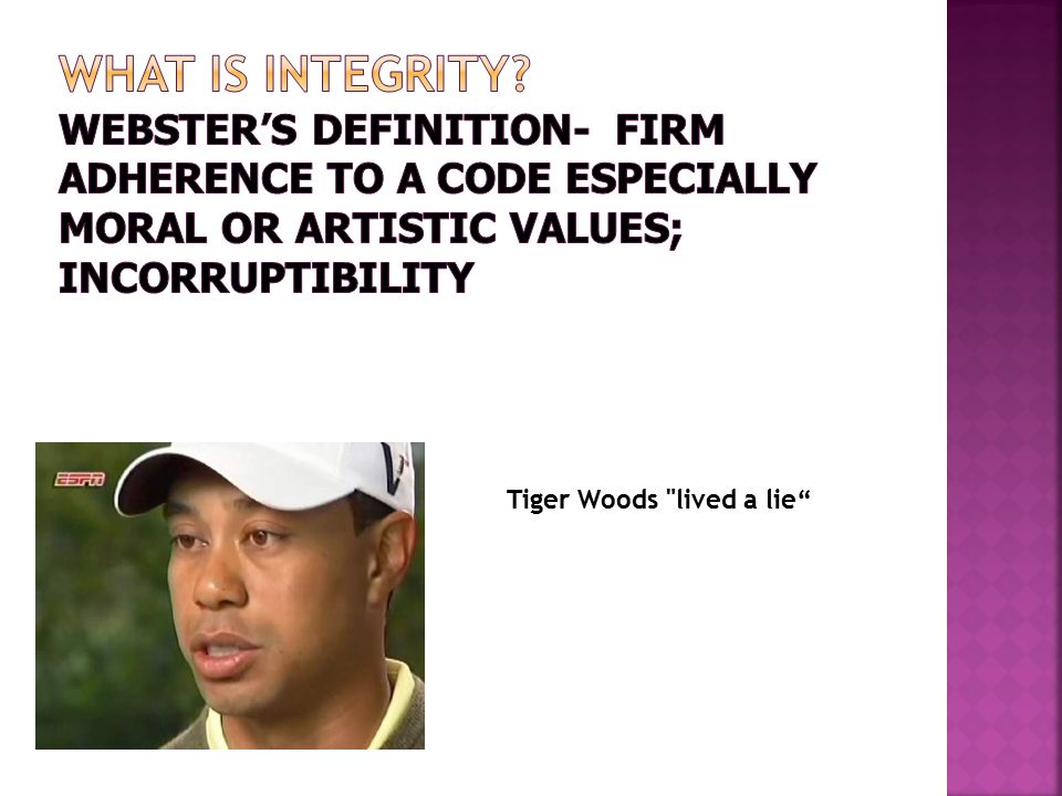 Tiger Woods lived a lie