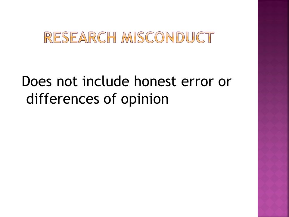 Does not include honest error or differences of opinion