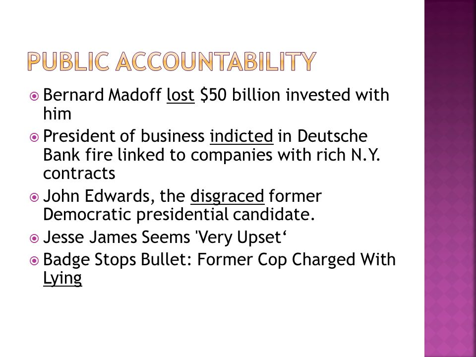  Bernard Madoff lost $50 billion invested with him  President of business indicted in Deutsche Bank fire linked to companies with rich N.Y.