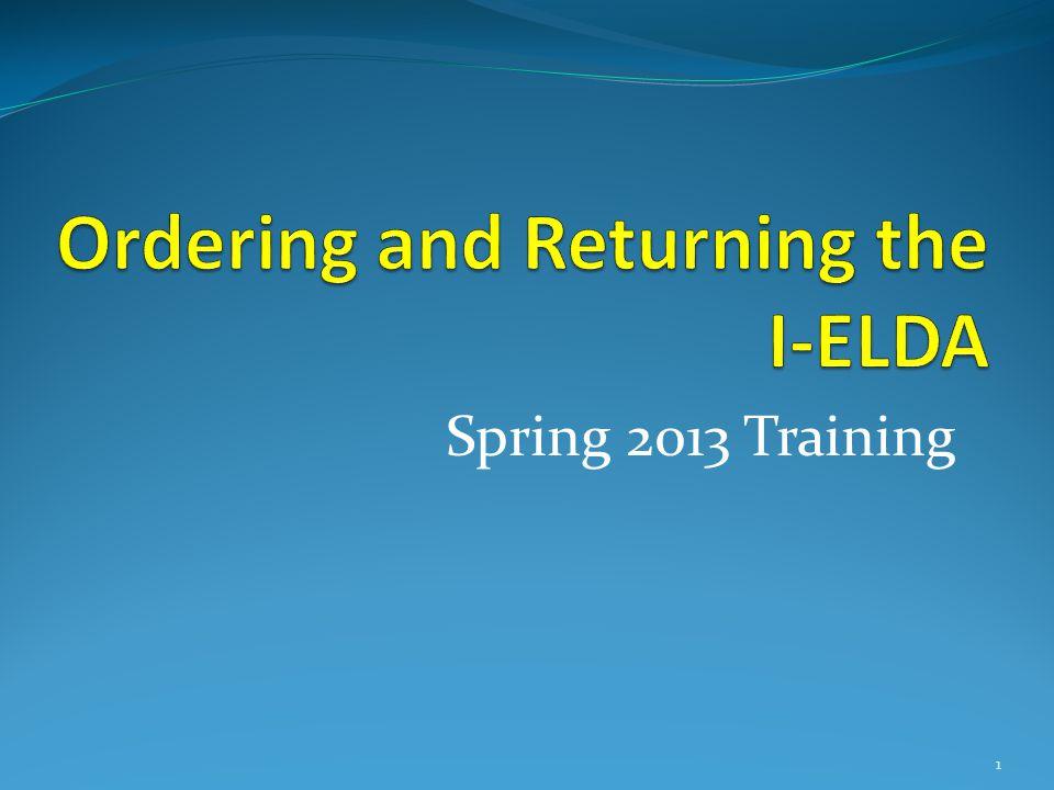 Spring 2013 Training 1