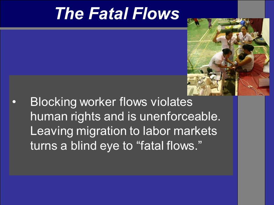 Blocking worker flows violates human rights and is unenforceable.
