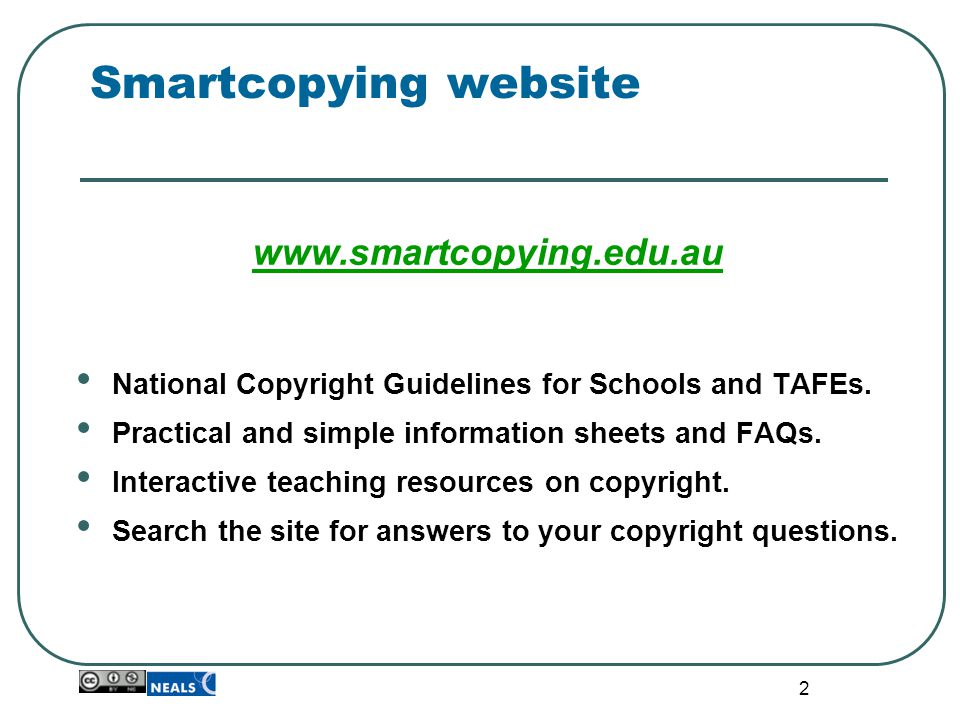 33 Smartcopying tips… All material must be attributed.