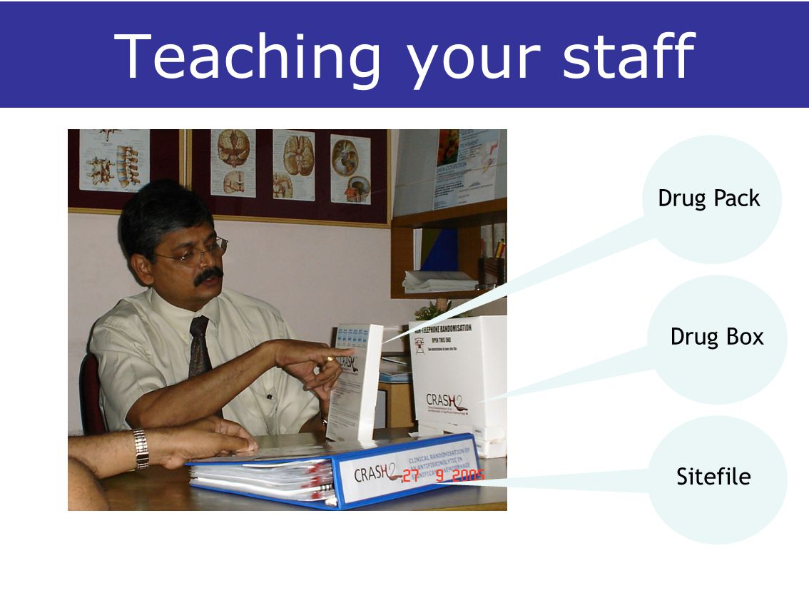 Teaching your staff Sitefile Drug Box Drug Pack