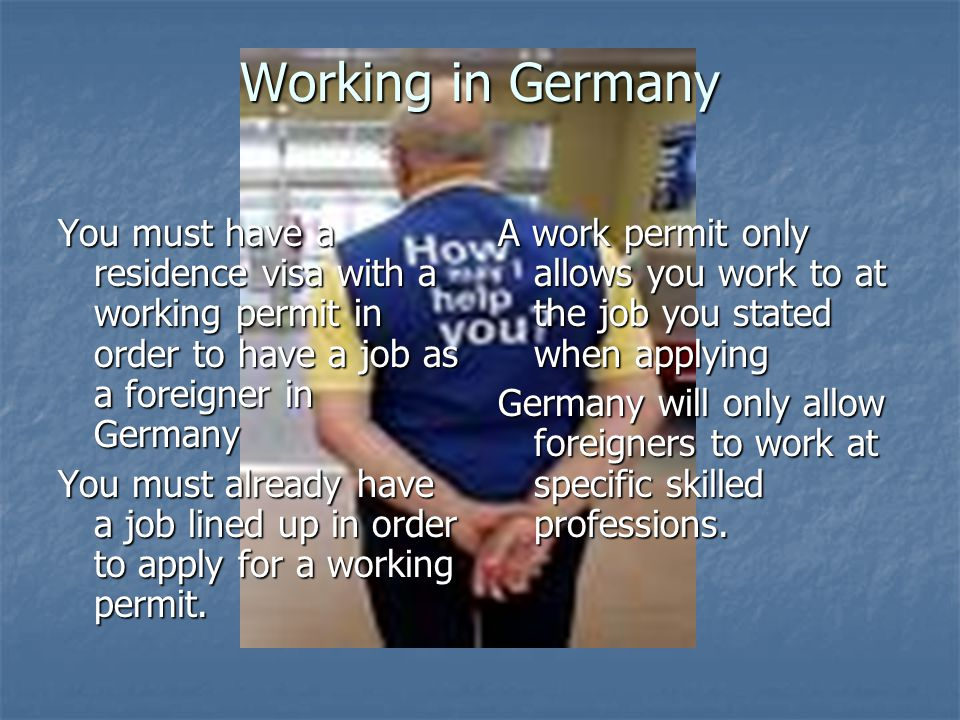 Even then Germans, European Union members and Turkish citizens receive preference in hiring.