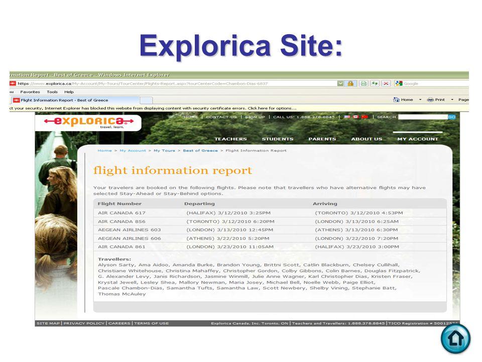 Explorica Site: