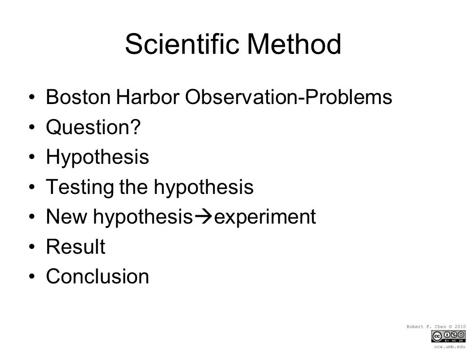 Scientific Method Boston Harbor Observation-Problems Question.