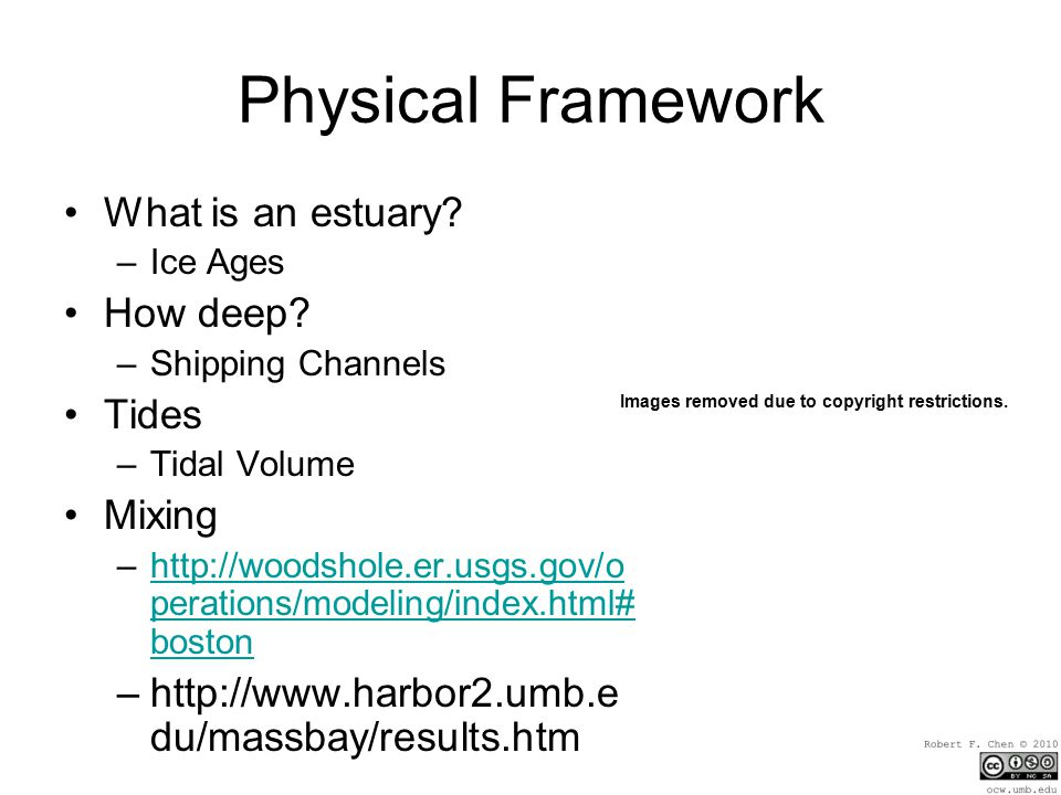 Physical Framework What is an estuary. –Ice Ages How deep.