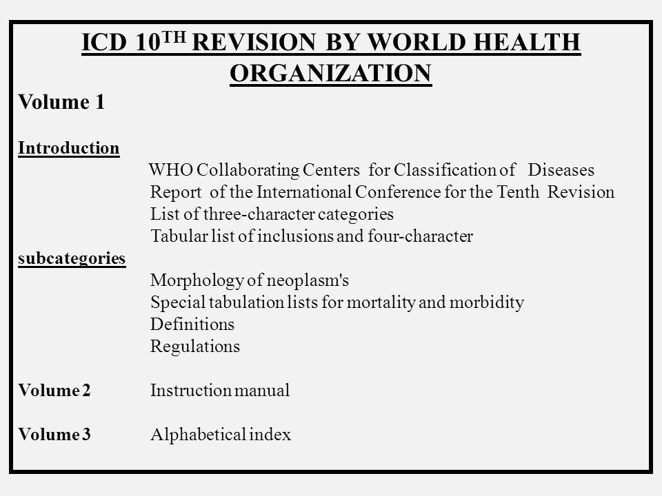 INTERNATIONAL CLASSIFICATION OF DISEASES INTRODUCTION Classification of diseases and operations is one of the most important functions of the medical